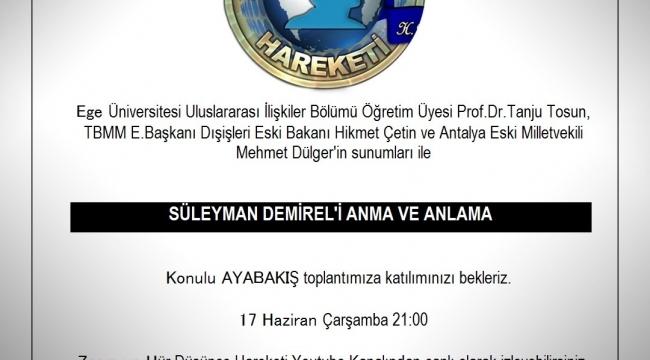 Süleyman Aksoy'dan Vefa örneği.