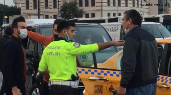 Bir Polis Memuru Bir Taksici Faciasını Önledi.