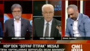 Gazeteci İsmail Saymaz Perinçek Karşısında Susmak Zorunda Kaldı.